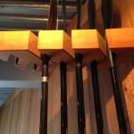 Wooden SUP Paddle Rack.