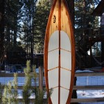 """12'6"""" wooden SUP."""