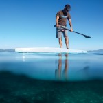 Wildlife viewing from a SUP at Lake Tahoe.